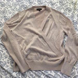 Beautiful wrap J. Crew sweater ✨